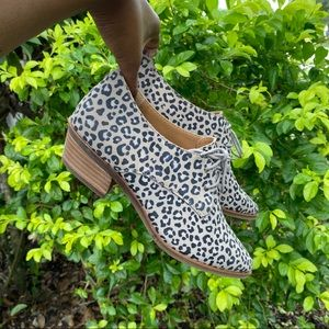 Lucky Brand Erreka Leopard Pointed Toe Oxford Shoe